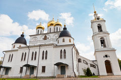 Dormition Cathedral of Dmitrov Kremlin, Russia Stock Image