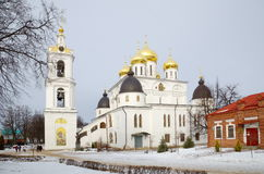 Dormition cathedral in Dmitrov, Russia Stock Images