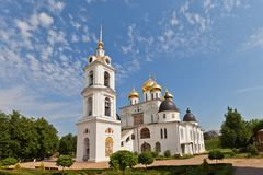 Dormition Cathedral (1512) in Dmitrov, Russia Stock Images