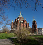 Dormition cathedral in Helsinki Royalty Free Stock Photo