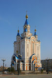 Dormition Cathedral in Khabarovsk. Russia. Built in 2000-2002, largest churches in the Russian Far East. The church contains a 19th-century copy of the Abazino Stock Photo