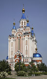 Dormition Cathedral in Khabarovsk. Russia Stock Photo