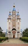 Dormition Cathedral in Khabarovsk. Russia.  stock photos