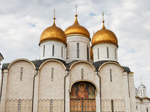 Dormition Cathedral in Moscow Kremlin Royalty Free Stock Photography