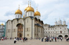 Dormition Cathedral in Moscow Kremlin, Russia Stock Photo