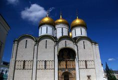 Dormition Cathedral, Moscow, Russia. Royalty Free Stock Photography