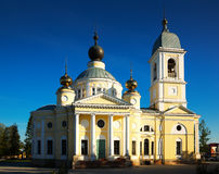 Dormition cathedral myshkin. Russian orthodox The Cathedral of the Dormition in small provincial town Myshkin build 1805-1820 Royalty Free Stock Photos
