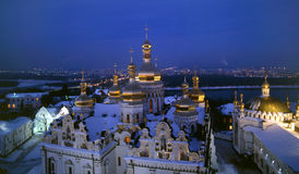 Dormition Cathedral  night view Stock Photos
