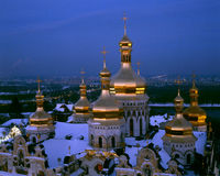 Dormition Cathedral  - night view Stock Photos