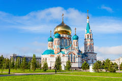 The Dormition Cathedral, Omsk Royalty Free Stock Images