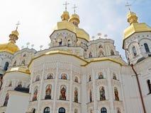 Dormition Cathedral in Pechersk Lavra in Kiev. Stock Photos