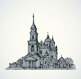 Dormition Cathedral, Poltava, Ukraine. Vector sketch Royalty Free Stock Photography