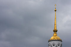 Dormition Cathedral tower in Bad weather Stock Photos