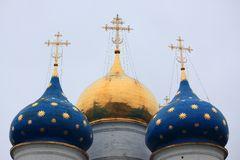 Dormition cathedral in Trinity Lavra of St. Stock Images