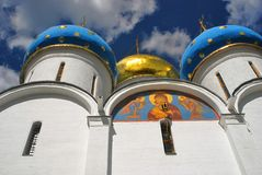 Dormition cathedral in Trinity Sergius Lavra Stock Images