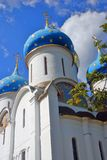 Dormition cathedral in Trinity Sergius Lavra Stock Photos