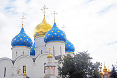 Dormition Cathedral in Trinity Sergius Lavra Royalty Free Stock Images