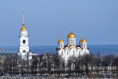 Dormition cathedral at Vladimir in Russia royalty free stock photography
