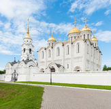 Dormition Cathedral in Vladimir, Russia. The Dormition Cathedral, or the Svyato-Uspenskiy Kafedralnyy Sobor, in Vladimir, Russia, on a nice summer day royalty free stock photos