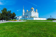 Dormition Cathedral (1160) in Vladimir, Russia. Dormition Cathedral (1160), UNESCO World Heritage Site, Vladimir stock photo