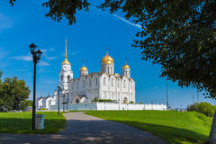 Dormition Cathedral 1160 in Vladimir, Russia Royalty Free Stock Images