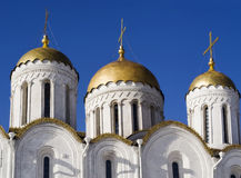 The Dormition cathedral in Vladimire (Russia) Stock Images