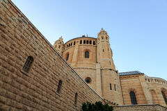 Dormition church and abbey in Jerusalem Stock Image