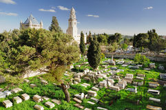 Dormition church cemetery. Stock Photography