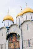 Dormition church. General view. Moscow Kremlin. Stock Photo