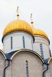 Dormition church golden cupolas. Stock Photography