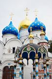 Dormition church and Holy water source. Royalty Free Stock Images