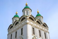 Dormition church. Kremlin in Astrakhan, Russia. Royalty Free Stock Photography