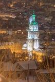 Dormition Church in Lviv at night, Ukraine. Royalty Free Stock Image