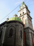The Dormition Church in Lviv Stock Images