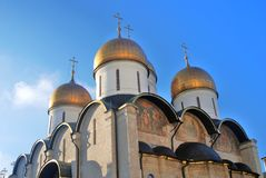 Dormition church of Moscow Kremlin. Color photo. Stock Image