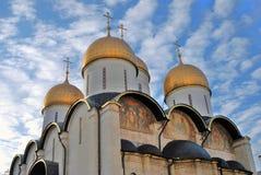 Dormition church of Moscow Kremlin. Color photo. Stock Photos