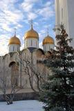 Dormition church of Moscow Kremlin. Color photo. Royalty Free Stock Photo