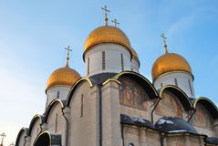 Dormition church of Moscow Kremlin. Color photo. Stock Photography