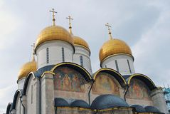 Dormition church. Moscow Kremlin. UNESCO Heritage. Royalty Free Stock Image