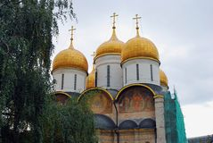 Dormition church. Moscow Kremlin. UNESCO Heritage. Royalty Free Stock Photo