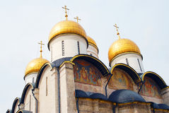 Dormition church. Moscow Kremlin. UNESCO World Heritage Site. Stock Photos