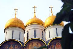 Dormition church in Moscow Kremlin. UNESCO World Heritage Site. Stock Image