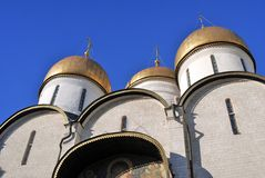 Dormition church in Moscow Kremlin. UNESCO World Heritage Site. Stock Images
