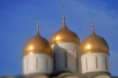 Dormition church in Moscow Kremlin. UNESCO World Heritage Site. Royalty Free Stock Images
