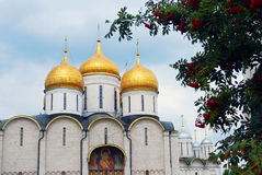 Dormition church. Moscow Kremlin. UNESCO World Heritage Site. Stock Photo