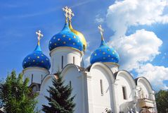 Dormition church in Trinity Sergius Lavra. Royalty Free Stock Image