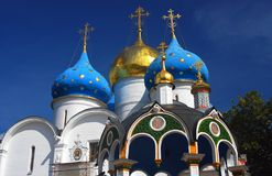 Dormition church. Trinity Sergius Lavra, Russia. UNESCO World Herit Royalty Free Stock Photography