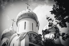 Dormition church in Trinity Sergius Lavra, Sergiev Posad, Russia. UNESCO World Herit Royalty Free Stock Photos