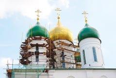 Dormition church under renovation. Kremlin in Kolomna, Russia. Royalty Free Stock Photo
