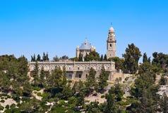 Dormition de la madre de la abadía de dios en Jerusalén Imágenes de archivo libres de regalías